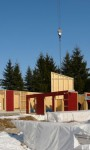 Mehrfamilienhaus nach dem Fertigbau-Prinzip